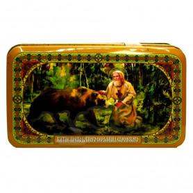 Чай чёрный+зеленый БЛАГОВЕСТ  Христос Воскресе 400гр.Ж/Б Ларец
